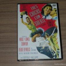 Cine: TRES CHICAS CON SUERTE DVD DEBBIE REYNOLDS NUEVA PRECINTADA. Lote 110259858