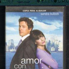 Cine: CINE GOYO - DVD - AMOR CON PREAVISO - SANDRA BULLOCK - HUGH GRANT - CC99 *. Lote 30116623