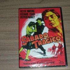 Cine: SABADO TRAGICO DVD VICTOR MATURE RICHARD EGAN STEPHEN MCNALLY NUEVA PRECINTADA. Lote 235174795