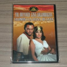 Cine: SALOMON Y LA REINA DE SABA DVD YUL BRYNNER GINA LOLLOBRIGIDA NUEVA PRECINTADA. Lote 210793331