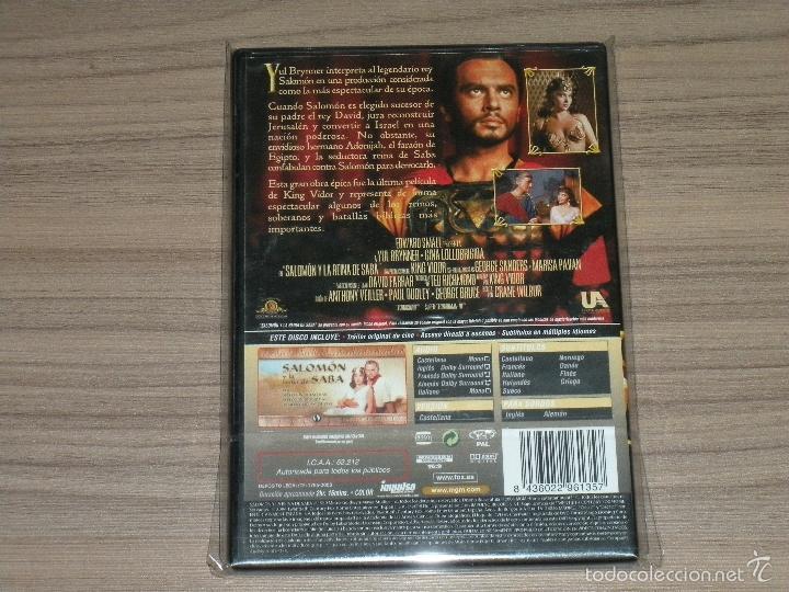 Cine: SALOMON y La REINA de SABA DVD Yul Brynner Gina Lollobrigida NUEVA PRECINTADA - Foto 2 - 210793331