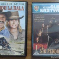 Cine: 2 DVDS DEL OESTE: SIN PERDÓN + MUERDE LA BALA.. Lote 56555687