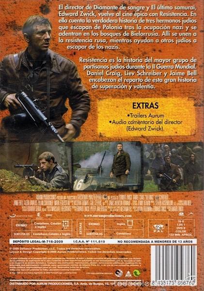 Cine: DVD RESISTENCIA DANIEL CRAIG - Foto 2 - 56591567