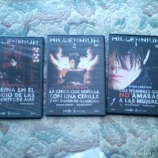 Cine: DVD TRILOGIA MILLENNIUM, DE STIEG LARSSON (PRECINTADAS) VER RELACION. Lote 56820047