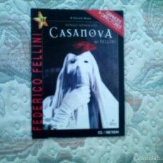 Cine: DVD CASANOVA, DE FEDERICO FELLINI, CON DONALD SUTHERLAND (SIN USAR). Lote 56890768