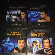 Cine: LOTE 4 PELICULAS 007 JAMES BOND ULTIMATE EDITION DOBLE DVD - PIERCE BROSNAN - SEAN CONNERY - ROGER M. Lote 56934273