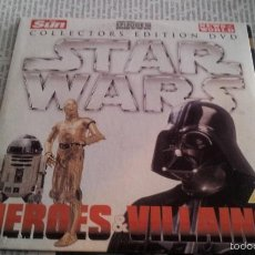 Cine: STAR WARS - COLLECTORS EDITION DVD / HEROES & VILLAINS - 2 DVD. Lote 57051916