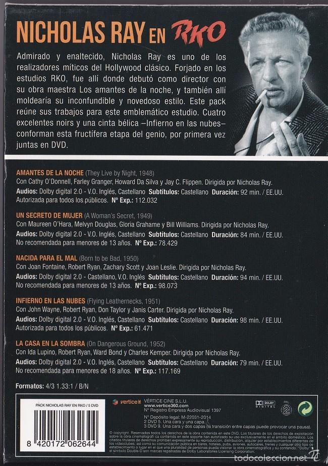Cine: Nichola Ray en RKO - Pack con 5 DVDs - Foto 2 - 57083728