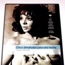 Cine: CINCO ALMOHADAS PARA UNA NOCHE - PEDRO LAZAGA SARA MONTIEL CRAIG HILL MANUEL ZARZO DVD DESCATALOGADA. Lote 57126171