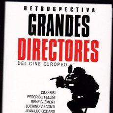 Cine: RETROSPECTIVA - GRANDES DIRECTORES DEL CINE EUROPEO - PACK CON 10 DVDS. Lote 57159687