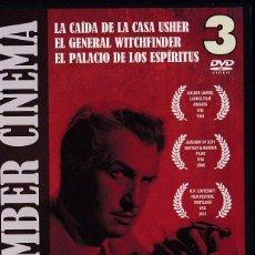 Cine: MITOS DE LO MACABRO: VINCENT PRICE - PACK CON 3 DVDS. Lote 57234261