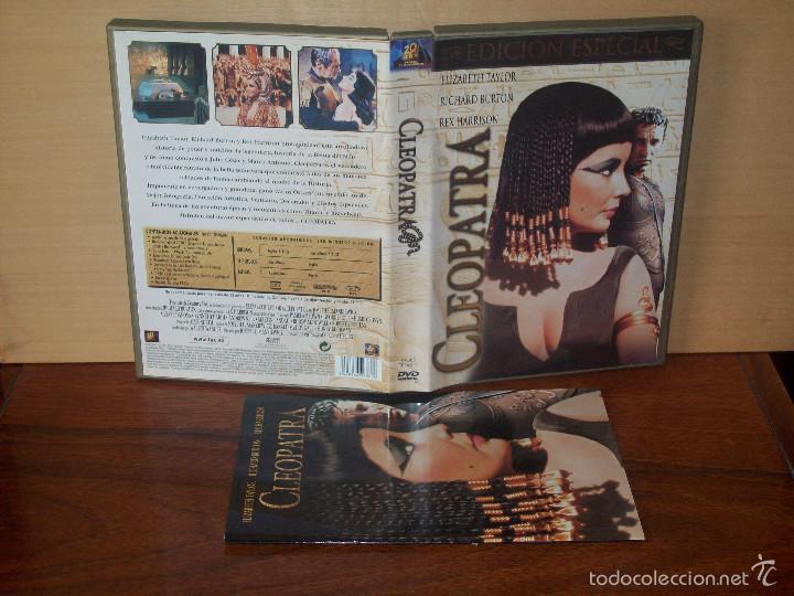 CLEOPATRA - ELIZABETH TAYLOR - RICHARD BURTON - TRIPLE DVD + LIBRETO EDICION ESPECIAL (Cine - Películas - DVD)