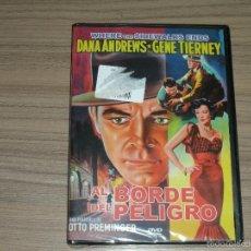Cine: AL BORDE DEL PELIGRO DVD DANA ANDREWS GENE TIERNEY NUEVA PRECINTADA. Lote 191396265