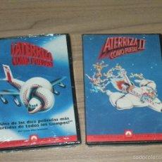 Cine: ATERRIZA COMO PUEDAS I Y II 2 DVD NUEVAS PRECINTADAS. Lote 186146800