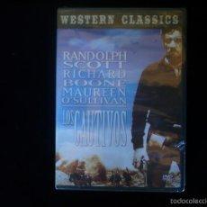 Cine: LOS CAUTIVOS DVD RANDOLPH SCOTT, NUEVO PRECINTADO. Lote 151554197