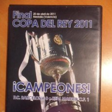 Cine: FINAL COPA DEL REY 2011. FC BARCELONA 0 - REAL MADRID 1. 20 DE ABRIL. DVD.. Lote 57720143