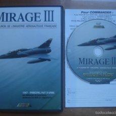 Cine: DVD MIRAGE III. AVIACIÓN. Lote 57731953