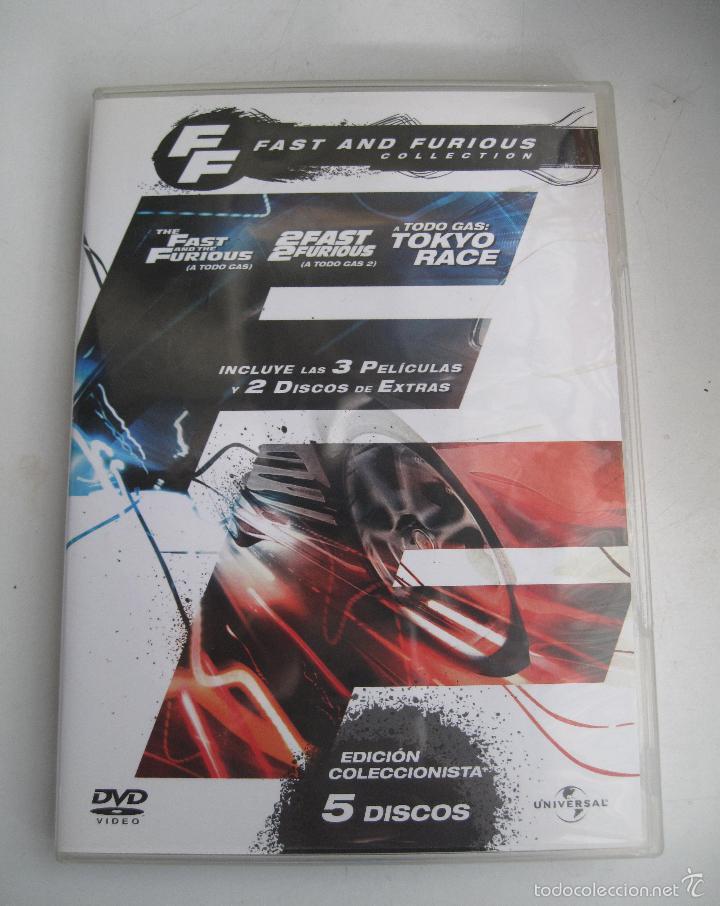 FAST AND FURIOUS COLECCIN 3 PRIMERAS PELCULAS 1 DVD EXTRAS O COMO NUEVO