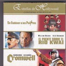 Cine: UN CADÁVER A LOS POSTRES / EL PUENTE SOBRE EL RÍO KWAI / CROMWELL / EL PRISIONERO [4 DVDS]. Lote 112594012