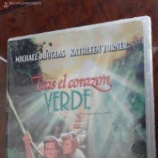 Cine: DVD TRAS EL CORAZÓN VERDE (1984) - ROBERT ZEMECKIS - MICHAEL DOUGLAS - KATHLEEN TURNER. Lote 57853117