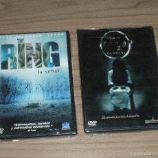 Cine: THE RING (LA SEÑAL) I Y II 2 DVD TERROR NUEVAS PRECINTADAS. Lote 261684685