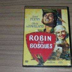 Cine: ROBIN DE LOS BOSQUES EDICION ESPECIAL 2 DVD ERROL FLYNN WARNER NUEVA PRECINTADA. Lote 144206104