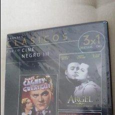 Cine: CICLO CINE NEGRO III - GRANDES CLASICOS - 3 PELICULAS EN 1 DVD - PRECINTADO. Lote 58074331