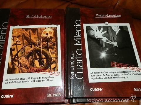 10 primeros titulos, dvd documentales del programa cuarto milenio,iker  jimenez.libros tapa dura