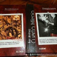 Cine: 10 PRIMEROS TITULOS, DVD DOCUMENTALES DEL PROGRAMA CUARTO MILENIO,IKER JIMENEZ.LIBROS TAPA DURA. Lote 58333816