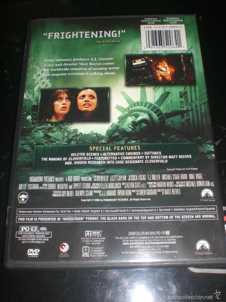 Cine: DVD CLOVERFIELD - USA ZONA 1 - Foto 3 - 58525502