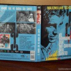 Cine: EL HOMBRE QUE NO QUERIA SER SANTO - MAXIMILIAN SCHELL - RICARDO MONTALBAN - DVD. Lote 58530463