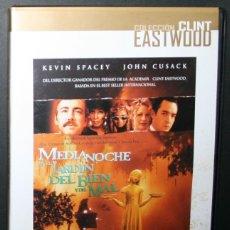 Cine: DVD - MEDIANOCHE EN EL JARDÍN DEL BIEN Y EL MAL - DIR. CLINT EASTWOOD. Lote 58588476