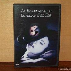 Cine: LA INSOPORTABLE LEVEDAD DEL SER-DANIEL DAY LEWIS - JULIETTE BINOCHE - DE PHILIP KAUFMAN- DVD. Lote 269643843