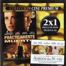 Cine: DVD PRÁCTICAMENTE MUERTO & LOS AMIGOS DEL NOVIO . Lote 59483751