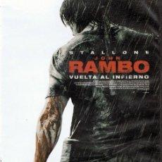 Cine: DVD JOHN RAMBO VUELTA AL INFIERNO STALLONE. Lote 59485423