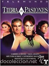 TIERRA DE PASIONES TELENOVELA GABRIELA SPANIC , HECTOR SUAREZ DVD'S NUEVO (Cine - Películas - DVD)