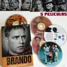 Cine: MARLON BRANDO PELÍCULAS 5 DVD - VIVA ZAPATA MORITURI EL ÚLTIMO TANGO EN PARÍS ELLOS Y ELLAS PELÍCULA. Lote 60065119