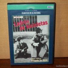 Cine: LADRON DE BICICLETAS -LAMBERTO MAGGIORANI - DIRIGIDA POR VITTORIO DE SICA-DVD PERIODICO-. Lote 60537923