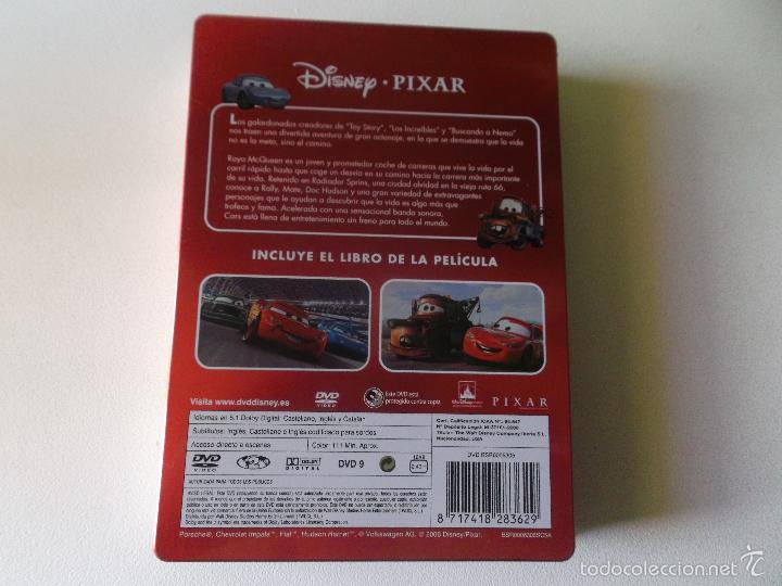 Cine: CARS -DVD Y EL LIBRO EDICION DE LUJO CAJA DE METAL - 0006305 BSR - Foto 2 - 60590619