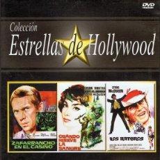 Cine: DVD STEVE MCQUEEN COLECCIÓN ESTRELLAS DE HOLLYWOOD (3 PELÍCULAS). Lote 61073887