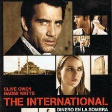 Cine: DVD THE INTERNATIONAL DINERO EN LA SOMBRA CLIVE OWEN . Lote 61075227