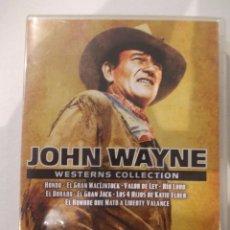 Cine: JOHN WAYNE WESTERN COLLECTION-8 DVD CLASICOS-HONDO-RIO LOBO-VALOR DE LEY-ETC. Lote 61348982