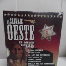 Cine: PACK EL SALVAJE OESTE, 5 DVD. CLASICOS DEL WESTERN.. Lote 61770168