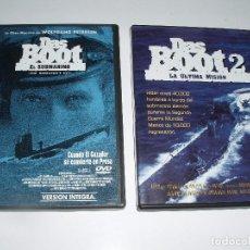 Cine: CINE BELICO SUBMARINOS DVD EL SUBMARINO DAS BOOT Y 2 LA ULTIMA MISION. Lote 62109808