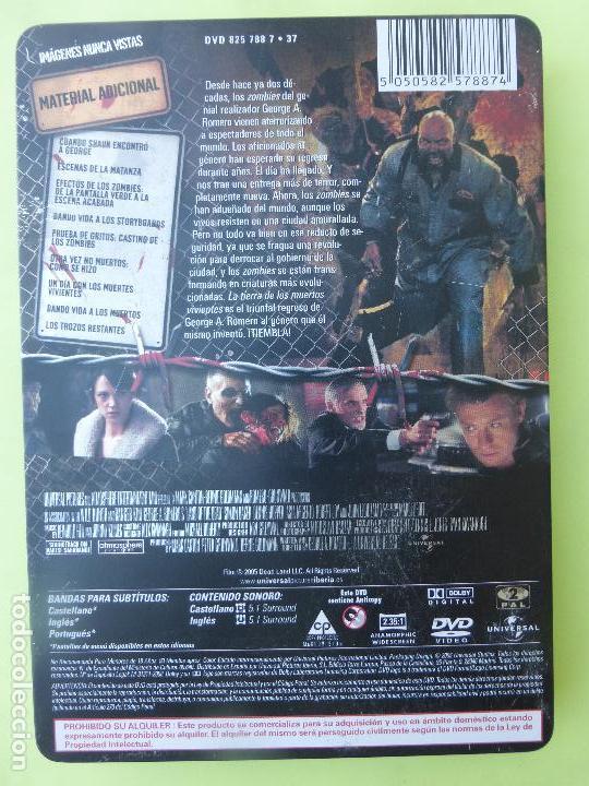Cine: LA TIERRA DE LOS MUERTOS VIVIENTES - (Edición Coleccionista con de caja Metal + tierra ) - DVD - Foto 2 - 62429340