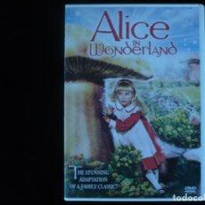 Cine: ALICE IN WONDERLAND (DVD COMO NUEVO) LENGUAJE, INGLES. Lote 63092740