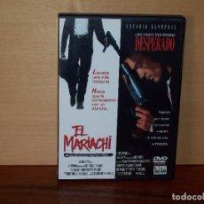 Cine: EL MARIACHI / DESPERADO - 2 PELICULAS EN 1 DVD A 2 CARAS. Lote 107725527