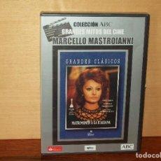 Cine: MATRIMONIO A LA ITALIANA - MARCELLO MASTROIANNI- SOFIA LOREN - DVD NUEVO PERIODICO PRECINTADO. Lote 63105960