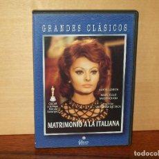 Cine: MATRIMONIO A LA ITALIANA- MARCELLO MASTROIANNI- SOFIA LOREN-DIRIGIDA POR VITTORIO DE SICA- DVD . Lote 63123764