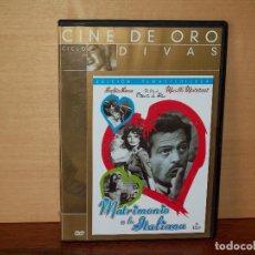 Cine: MATRIMONIO A LA ITALIANA - MARCELLO MASTROIANNI- SOFIA LOREN - DVD CAJA FINA . Lote 63123924